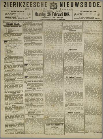 Zierikzeesche Nieuwsbode 1917-02-26