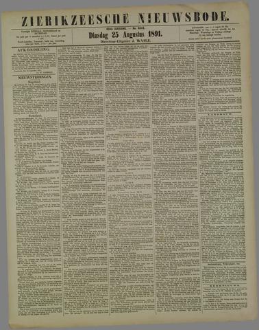 Zierikzeesche Nieuwsbode 1891-08-25