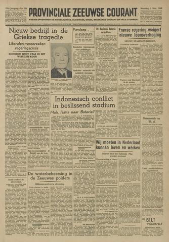 Provinciale Zeeuwse Courant 1948-11-01