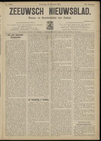 Ter Neuzensch Volksblad. Vrijzinnig nieuws- en advertentieblad voor Zeeuwsch- Vlaanderen / Zeeuwsch Nieuwsblad. Nieuws- en advertentieblad voor Zeeland 1918-02-20