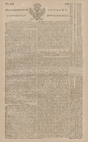 Middelburgsche Courant 1785-08-25