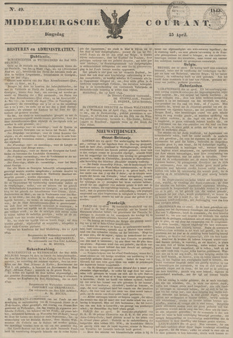 Middelburgsche Courant 1843-04-25