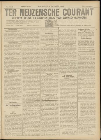 Ter Neuzensche Courant. Algemeen Nieuws- en Advertentieblad voor Zeeuwsch-Vlaanderen / Neuzensche Courant ... (idem) / (Algemeen) nieuws en advertentieblad voor Zeeuwsch-Vlaanderen 1936-10-14