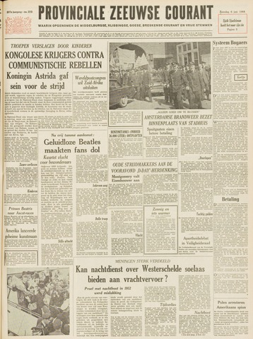 Provinciale Zeeuwse Courant 1964-06-06