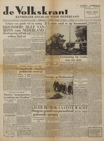 Watersnood documentatie 1953 - kranten 1953-02-16