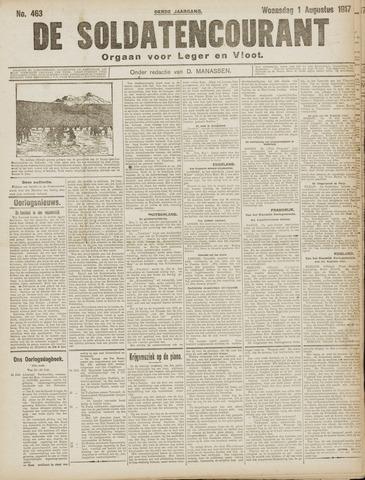 De Soldatencourant. Orgaan voor Leger en Vloot 1917-08-01