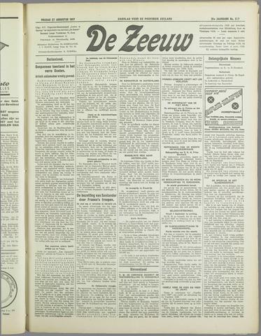 De Zeeuw. Christelijk-historisch nieuwsblad voor Zeeland 1937-08-27