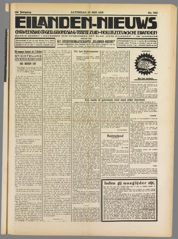 Eilanden-nieuws. Christelijk streekblad op gereformeerde grondslag 1938-05-28