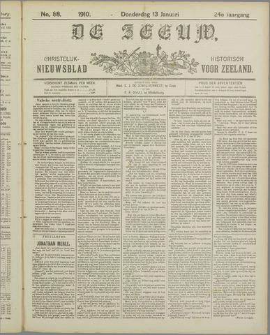 De Zeeuw. Christelijk-historisch nieuwsblad voor Zeeland 1910-01-13