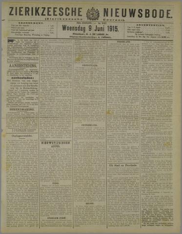 Zierikzeesche Nieuwsbode 1915-06-09