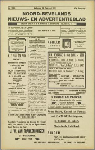 Noord-Bevelands Nieuws- en advertentieblad 1937-02-13