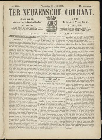 Ter Neuzensche Courant. Algemeen Nieuws- en Advertentieblad voor Zeeuwsch-Vlaanderen / Neuzensche Courant ... (idem) / (Algemeen) nieuws en advertentieblad voor Zeeuwsch-Vlaanderen 1881-07-20