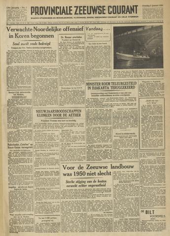 Provinciale Zeeuwse Courant 1951-01-02