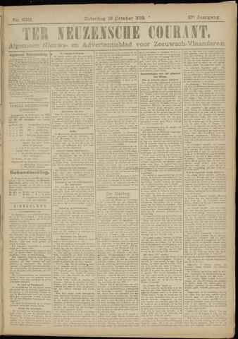 Ter Neuzensche Courant. Algemeen Nieuws- en Advertentieblad voor Zeeuwsch-Vlaanderen / Neuzensche Courant ... (idem) / (Algemeen) nieuws en advertentieblad voor Zeeuwsch-Vlaanderen 1918-10-19