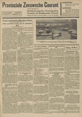 Provinciale Zeeuwse Courant 1941-02-14
