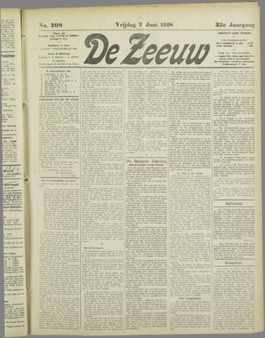 De Zeeuw. Christelijk-historisch nieuwsblad voor Zeeland 1918-06-07