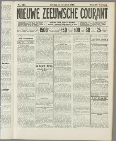 Nieuwe Zeeuwsche Courant 1916-11-14
