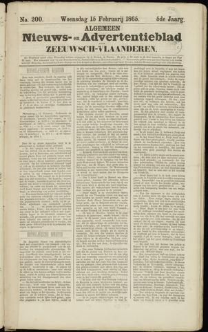 Ter Neuzensche Courant. Algemeen Nieuws- en Advertentieblad voor Zeeuwsch-Vlaanderen / Neuzensche Courant ... (idem) / (Algemeen) nieuws en advertentieblad voor Zeeuwsch-Vlaanderen 1865-02-15