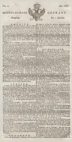 Middelburgsche Courant 1765