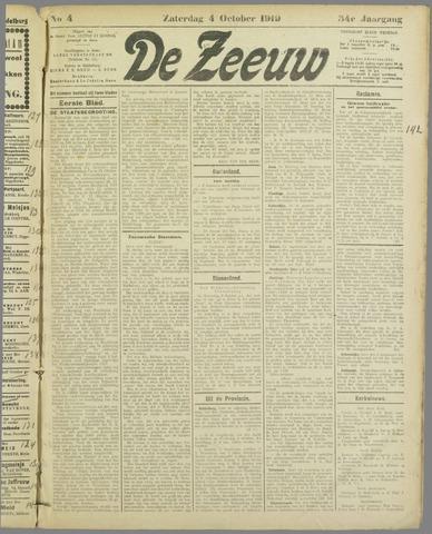 De Zeeuw. Christelijk-historisch nieuwsblad voor Zeeland 1919-10-04