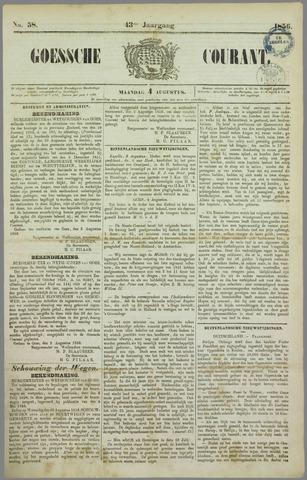 Goessche Courant 1856-08-04