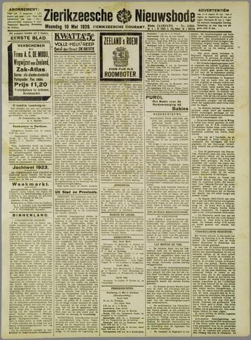 Zierikzeesche Nieuwsbode 1926-05-10