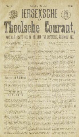 Ierseksche en Thoolsche Courant 1886-07-24