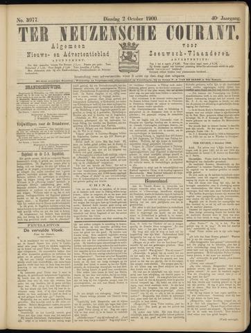 Ter Neuzensche Courant. Algemeen Nieuws- en Advertentieblad voor Zeeuwsch-Vlaanderen / Neuzensche Courant ... (idem) / (Algemeen) nieuws en advertentieblad voor Zeeuwsch-Vlaanderen 1900-10-02