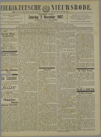 Zierikzeesche Nieuwsbode 1907-11-02