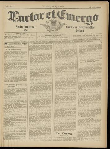 Luctor et Emergo. Antirevolutionair nieuws- en advertentieblad voor Zeeland / Zeeuwsch-Vlaanderen. Orgaan ter verspreiding van de christelijke beginselen in Zeeuwsch-Vlaanderen 1915-04-10