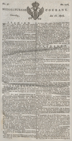Middelburgsche Courant 1778-04-18