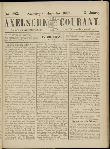Axelsche Courant 1887-08-06