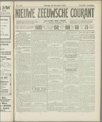 Nieuwe Zeeuwsche Courant 1916-12-12