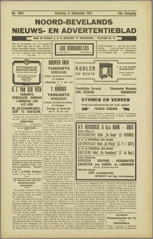 Noord-Bevelands Nieuws- en advertentieblad 1937-09-11