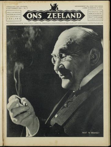 Ons Zeeland / Zeeuwsche editie 1934-09-21