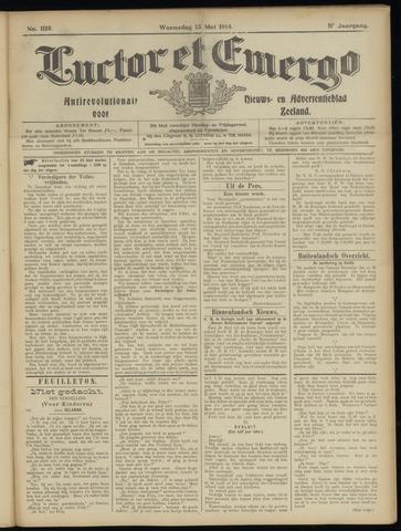 Luctor et Emergo. Antirevolutionair nieuws- en advertentieblad voor Zeeland / Zeeuwsch-Vlaanderen. Orgaan ter verspreiding van de christelijke beginselen in Zeeuwsch-Vlaanderen 1914-05-13