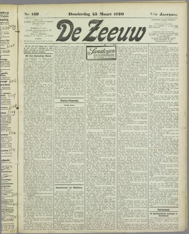 De Zeeuw. Christelijk-historisch nieuwsblad voor Zeeland 1920-03-25
