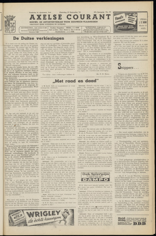 Axelsche Courant 1953-09-12