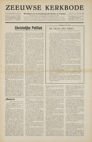 Zeeuwsche kerkbode, weekblad gewijd aan de belangen der gereformeerde kerken/ Zeeuwsch kerkblad 1956-06-15