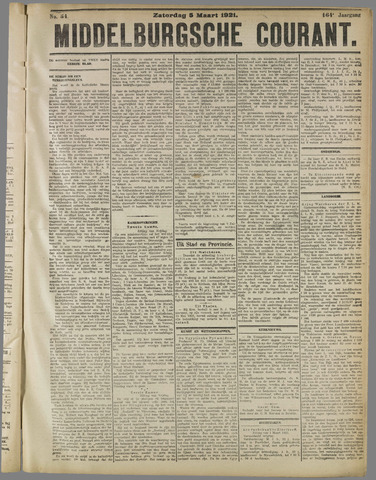 Middelburgsche Courant 1921-03-05