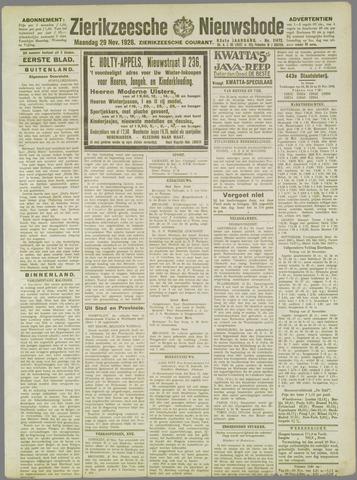Zierikzeesche Nieuwsbode 1926-11-29