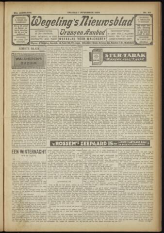 Zeeuwsch Nieuwsblad/Wegeling's Nieuwsblad 1929-11-01