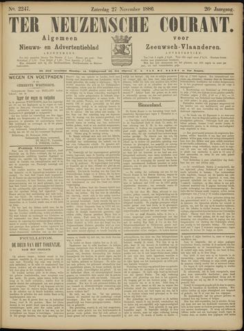 Ter Neuzensche Courant. Algemeen Nieuws- en Advertentieblad voor Zeeuwsch-Vlaanderen / Neuzensche Courant ... (idem) / (Algemeen) nieuws en advertentieblad voor Zeeuwsch-Vlaanderen 1886-11-27