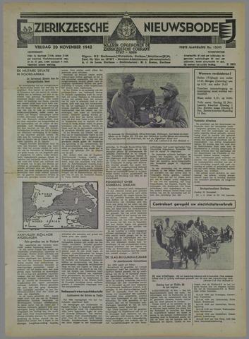 Zierikzeesche Nieuwsbode 1942-11-20