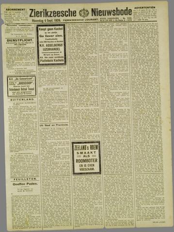 Zierikzeesche Nieuwsbode 1926-09-06