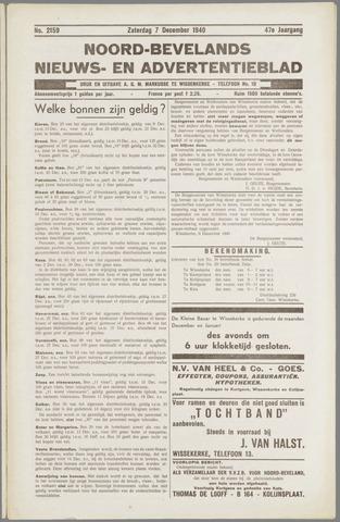 Noord-Bevelands Nieuws- en advertentieblad 1940-12-07
