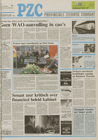 Provinciale Zeeuwse Courant 1991-11-27