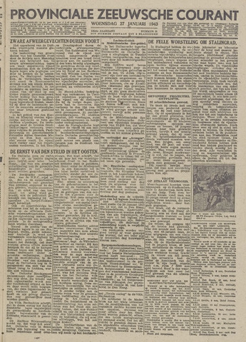Provinciale Zeeuwse Courant 1943-01-27