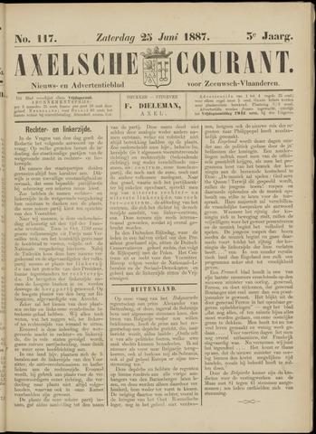 Axelsche Courant 1887-06-25