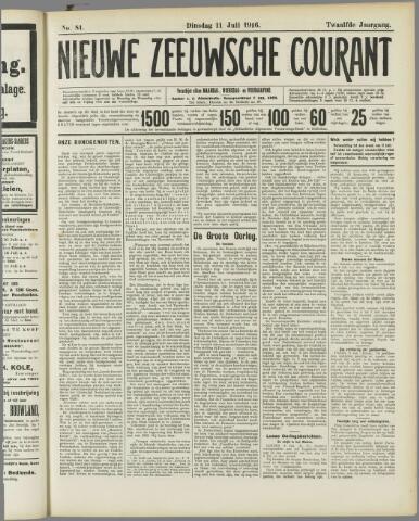 Nieuwe Zeeuwsche Courant 1916-07-11